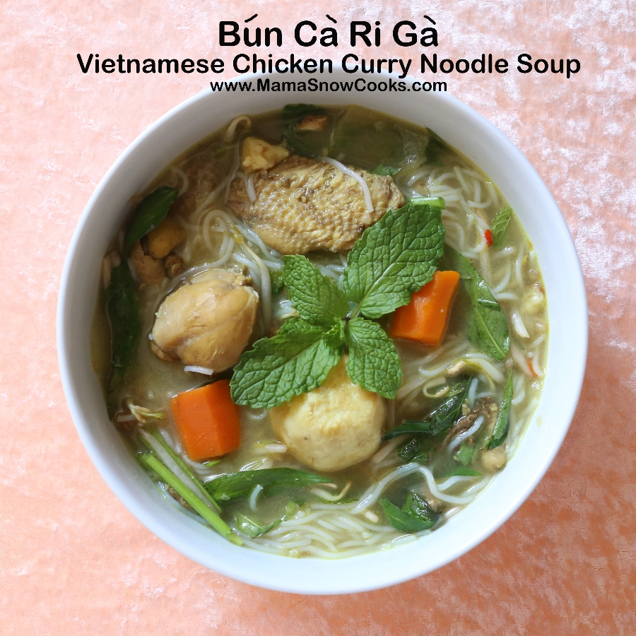 Vietnamese Chicken Curry Noodle Soup (Bun Ca Ri Ga)
